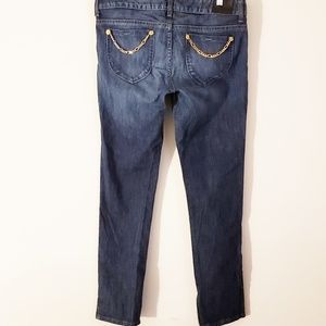 GUESS PLUS Size Denim Jeans with Chains and Splits
